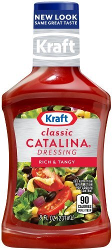 Kraft Catalina Salad Dressing - Kraft Classic Catalina Dressing, Rich & Tangy 8 Oz (Pack of 3)