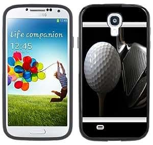Golf Ball Club Handmade Samsung Galaxy S4 Black Bumper Hard Plastic Case by icecream design