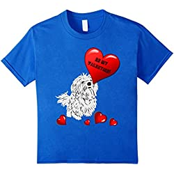 Be My Valentine Maltese Dogs T-Shirt Gift Idea Maltese Fans
