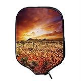 YOLIYANA Desert Durable Racket Cover,Sunset Over Central Australian Landscape Dreamy Dramatic Sky Scenic Nature Decorative for Sandbeach,One Size