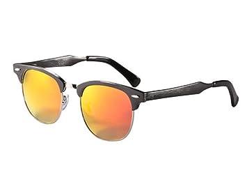 SHULING Gafas De Sol Elegantes Gafas De Sol Gafas De Sol Polarizadas Medio Marco Reflexivo,