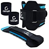 Ankle Weights Set for Women & Men w/ 2 Wrist Sweatbands included | Exercise Leg Weights(1 pair), Unisex and Unique Desing, Excellent for Walking, Running, Jogging, Gymnastics & Aerobics (2, 4, 6 lbs)