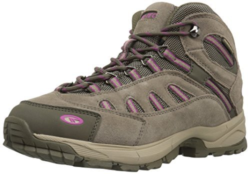 Hi-Tec Women's Bandera Ultra Mid Waterproof Backpacking Boot, Taupe/Dune/Boysenberry, 7.5 M US