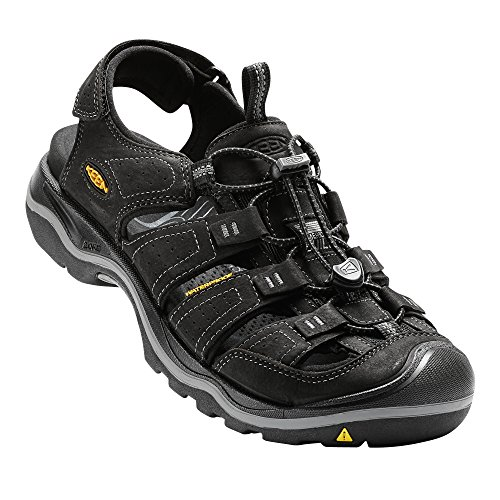 Keen Men's Rialto-m Fashion Sandal, Black/Gargoyle, 9.5 M US -