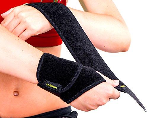 Leisegrün® Handgelenkbandage Fitness [2 Stück] - Handgelenkschoner stützen beim Sport wie Crossfit, Kraftsport Training - Handgelenkbandagen geeignet für Damen und Herren