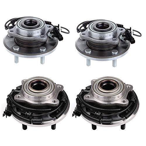 ECCPP Wheel Hub and Bearing Assembly Front and Rear 512360 fit 2008-2015 Chrysler Town Country Dodge Grand Caravan Ram Cargo Van VW Routan Replacement for 5 lugs Wheel hub with ABS 4 pcs