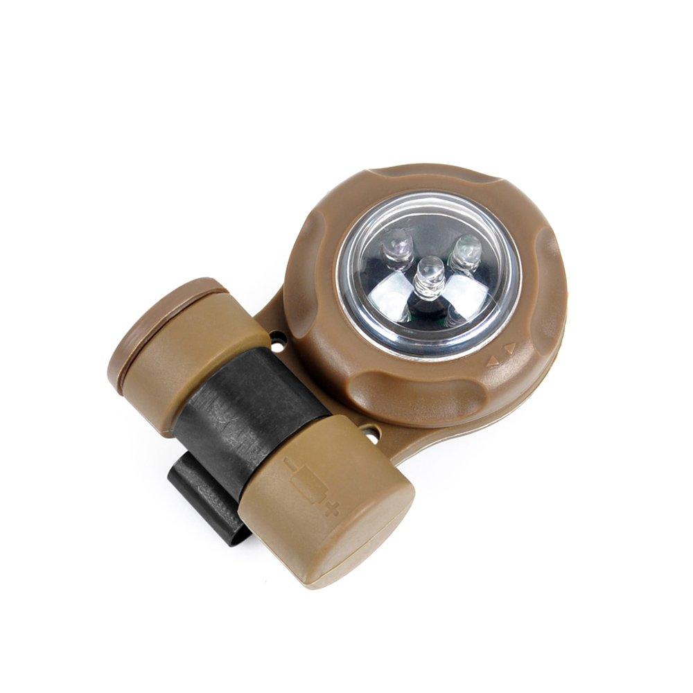Enhelmet Tactical Signal Light/Outdoor Survival Tactical Airsoft VIP Safety Signal Light/SOS Signal Flashlight IR Strobe Light 2X Infrared, 3X Greenlight (DE)