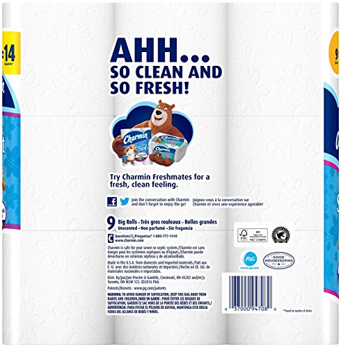 Charmin Ultra Soft Toilet Paper, 9 Big Rolls