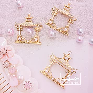 7f8b82b8548 Amazon.com : Han Chinese clothing Chinese wind brooch accessories antiquity  pavilion imitation pearl brooch brooch Han Chinese clothing gift clothing  ...