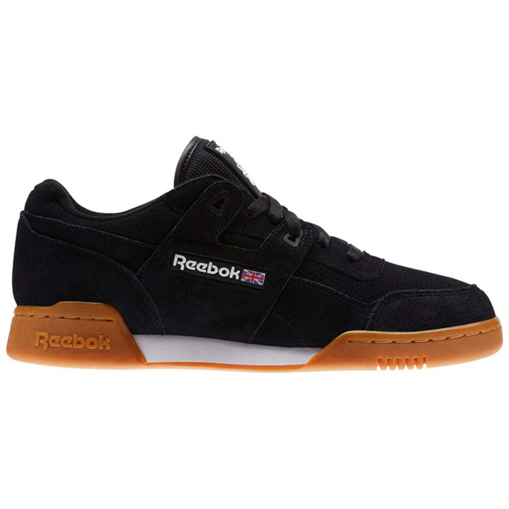 hot sale online bbbd2 0f989 Amazon.com   Reebok Workout Plus Eg Mens Black Suede Lace Up Sneakers Shoes    Shoes
