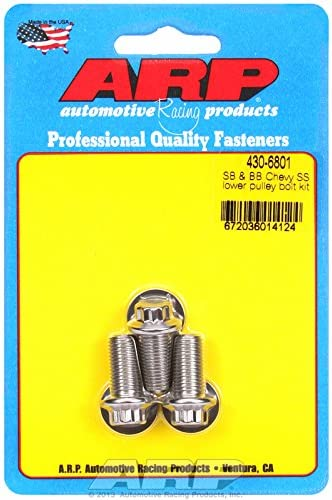 ARP 430-6801 Small /& Big Block Chevy Stainless Steel lower pulley bolt kit