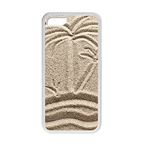 Palm Tree On Sand Phone Case for iPhone 5 5s