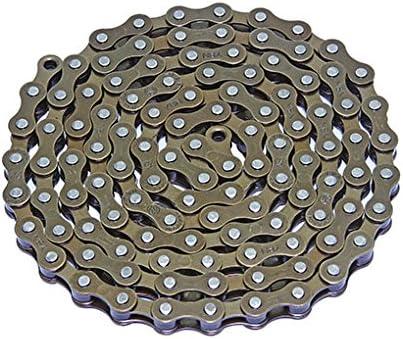 Lowrider YBN 自転車チェーン 1/2インチ X1/8 シングルスピード ブラウン バイクパーツ 自転車パーツ バイクアクセサリー 自転車アクセサリー