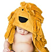 Lion Hooded Baby Towel For Toddler, Newborn and Infant | Super Soft Organic Bamboo | Animal Face Design For A Girl or Boy | Great For The Bath, Pool or Beach by BabyTrove
