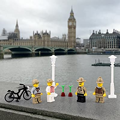 Minifigures Set of 20+7 Include Lego-Compatible Building Bricks Community Mini People and Accessories from may up