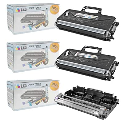 LD © Compatible with Brother TN360 Toner and DR360 Drum Combo Pack: 2 Black TN360 Laser Toner Cartridge and 1 DR360 Drum Unit for use in DCP-7030, DCP-7040, DCP-7045N, HL-2140, HL-2150N, HL-2170W, MFC-7320, MFC-7340, MFC-7345DN, MFC-7345N, MFC-7440N & MFC