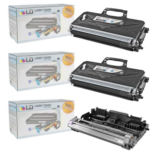 (LD © Compatible with Brother TN360 Toner and DR360 Drum Combo Pack: 2 Black TN360 Laser Toner Cartridge and 1 DR360 Drum Unit for use in DCP-7030, DCP-7040, DCP-7045N, HL-2140, HL-2150N, HL-2170W, MFC-7320, MFC-7340, MFC-7345DN, MFC-7345N, MFC-7440N & MFC-7840W Printers)