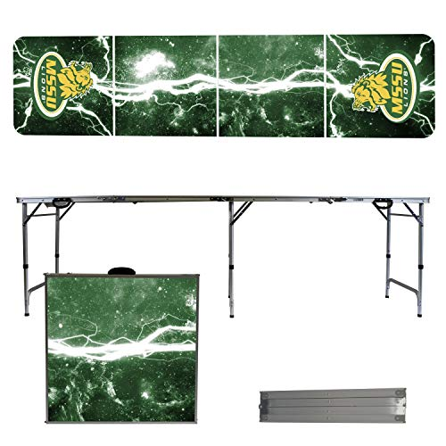 (Victory Tailgate NCAA Missouri Southern State University 8'x2' Foldable Tailgate Table with Adjustable Hight and Spill Resistant Sealant - Lightning Series )
