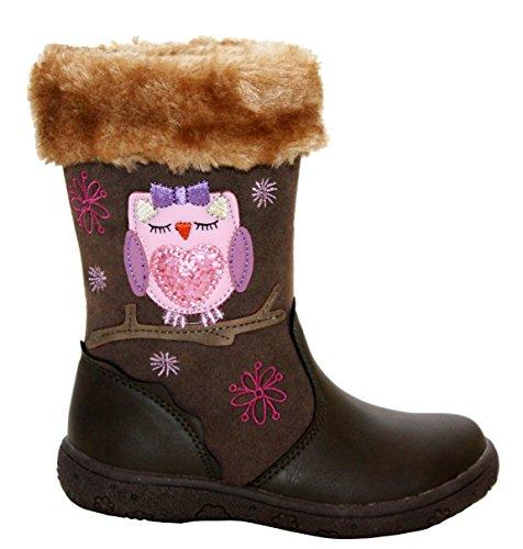 A&H Footwear ,  Baby Mädchen Mädchen Schneestiefel Brown/Fur