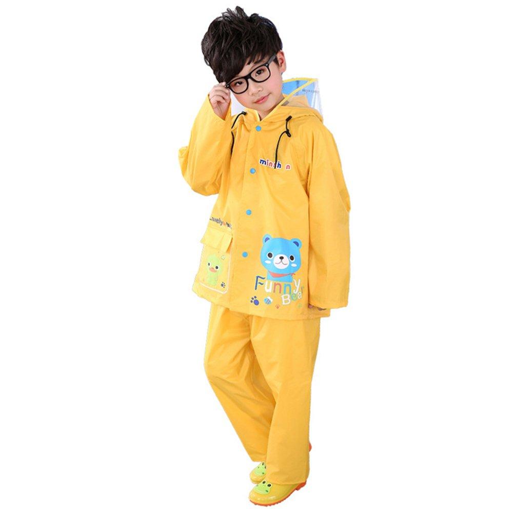 Zhuhaitf Two Pieces Raincoat Suit Rainwear Kids Waterproof Jacket & Trousers Set