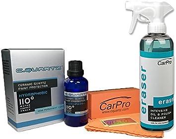 Amazon Com Carpro Cquartz Ceramic Quartz Paint Protection 30 Ml With Eraser 500 Ml Automotive
