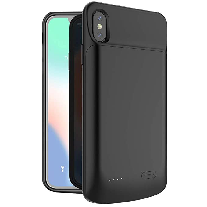 Battery Charger Cases New 5000mah Portable Soft Liquid Silicone Battery Charger Case For Iphone Xs Max Battery Case Power Bank Cases For Iphonexs Max Cellphones & Telecommunications