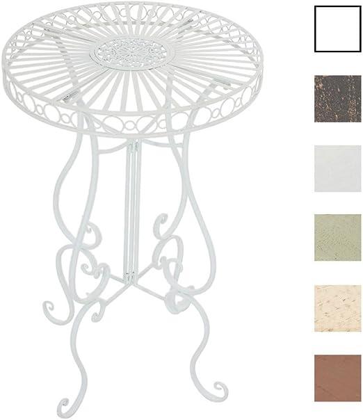 Tavolo da giardino tavolo 73cm ferro da giardino Stile antico mobili da giardino crema bianco IRON