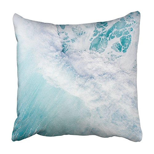 Emvency Throw Pillow Cover Blue Aerial View of