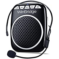 WinBridge WB001 Portable Voice Amplifier with Headset Microphone Personal Speaker Mic Rechargeable Ultralight for…