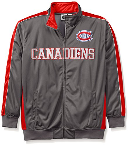Profile Big & Tall NHL Montreal Canadiens Men's Reflective Track Jacket, 3X, Charcoal/Red