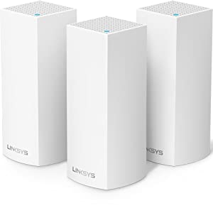 Linksys Velop Tri-Band Home Mesh WiFi System - WiFi Router/WiFi Extender for Whole-Home Mesh Network (3-pack, White)