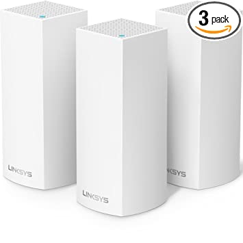 5f3377bffb20 Linksys Velop AC2200 Tri-band Whole Home WiFi Intelligent Mesh System,  3-pack