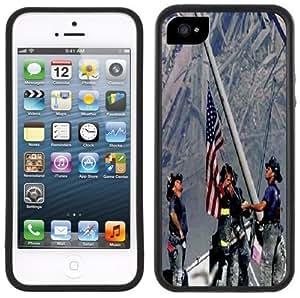 9-11 September 11th Firefighters Handmade iPhone 5 Black Bumper Plastic Case