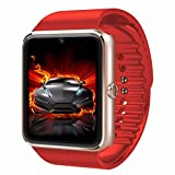 CNPGD [U.S. Warranty] All-in-1 Smartwatch and Watch Cell Phone Red