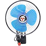 Auto Fan Cool, Inkach inch 12V Portable Dashboard Vehicle Auto Car Cooling Oscillating Fan Clip-On