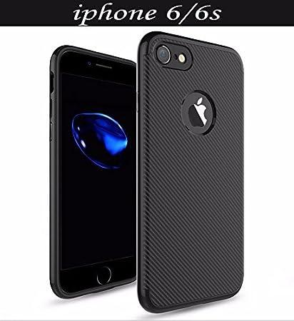 MOBICLONICS reg; UnbrekableTough Armor Carbon Fibre Back Cover for Apple iPhone 6s Carbon Black  Cases   Covers