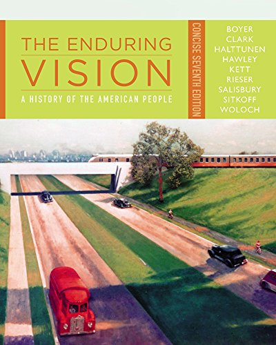 CourseMate (with Wadsworth American History Resource Center, InfoTrac) for Boyer/Clark/Halttunen/Hawley/Kett/Rieser/Salisbury/Sitkoff/Woloch's The Enduring Vision: A History of the American People, Concise, 7th - Salisbury Centre