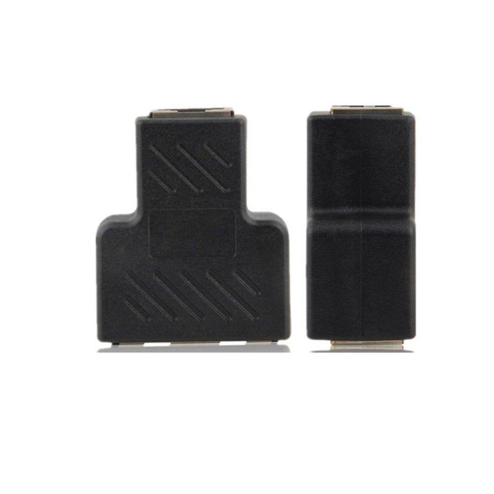 Conector Divisor de Red Ethernet de 1 a 2 latas para Terminal de Contacto de Cobre sin ox/ígeno RJ45 1,65 x 3,5 x 0,79 Pulgadas Multicolor Dandeliondeme