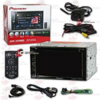 Pioneer AVH-X390BS 6.2 Double DIN Touchscreen Car audio AM/FM DVD MP3 CD Player USB with Bluetooth & SiriusXM-Ready + Keyhole Rear View Backup Camera (Optional Color)