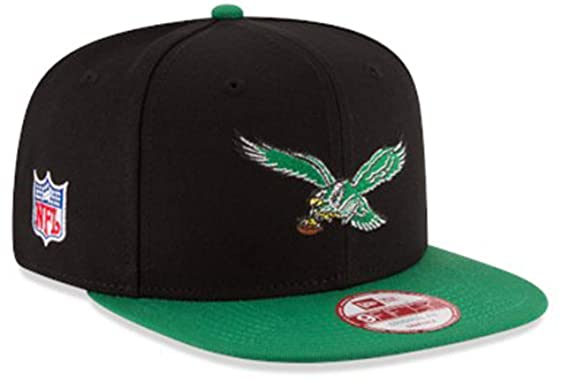 3a74cb7034b New Era Authentic Philadelphia Eagles Historic NFL Baycik 9Fifty Snapback  Cap Hat - Black