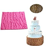 Fondant Impression Mat, Tree Bark texture Design- Silicone----Cake Decorating Supplies for Cupcake Wedding Cake Decoration by Palker Sky
