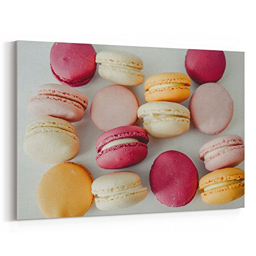 Westlake Art - Macaron Food - 12x18 Canvas Print Wall Art -