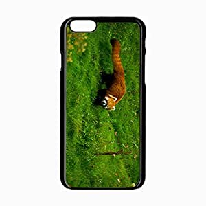 iPhone 6 Black Hardshell Case 4.7inch panda grass walk Desin Images Protector Back Cover