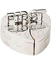 First Tooth and First Curl Heart Shaped Box Set Silver Plated CG140