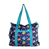 Allgala 19'' Shopping Travel Tote Bag (N Turtle Blue)