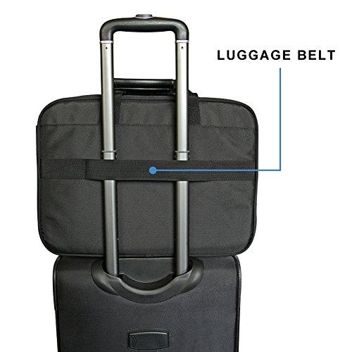 KROSER 18.5'' Laptop Bag Laptop Briefcase Fits Up To 18 Inch Laptop Water-Repellent Computer Bag Shoulder Bag Expandable Extra Large Capacity For Travel/Business/School/Men-Black by KROSER (Image #5)
