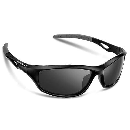 Lunettes de Soleil Sport, CHEREEKI Sunglasses Polarisé Sportif avec UV400 Protection & Cadre durable Incassable, Lunettes de Soleil Unisexe pour Homme Femme Outdoors Sports Pêche Ski Golf Course Cyclisme Camping