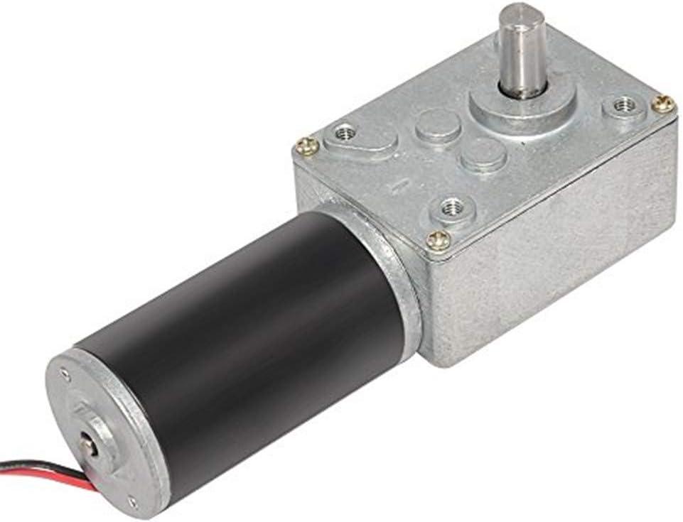 AZSSMUK - Motor de engranaje de turbina reversible de 12 V CC Turbo Worm con alto par de torsión y autoinhibición para aparatos bancarios, máquinas de etiquetado (10 rpm, 12 V)