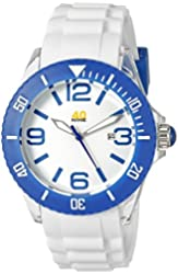 40Nine Unisex 40NINE02/BLUE3 Large 45mm Analog Display Japanese Quartz White Watch