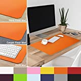 casa pura Non-Slip Orange Desk Mat | 20'' x 26'' (1.6'x2') | PVC & Phthalate Free | Multiple Colors to Choose from | Matching Chair Mats Available